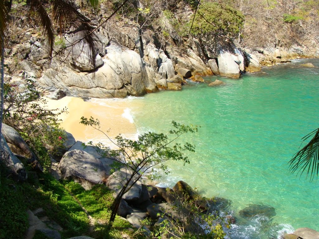 Colomitos is the smallest beach from the top 5 beaches in Puerto Vallarta